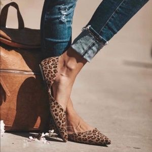 Shoes - Leopard animal flats casual loafer women shoes